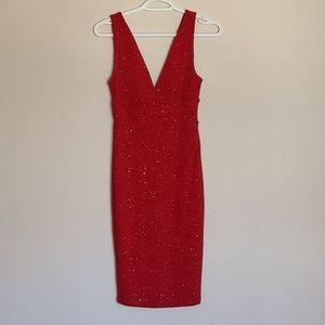 Stunning sparkly red dress